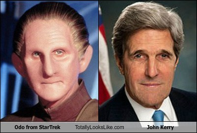 Odo from StarTrek Totally Looks Like John Kerry