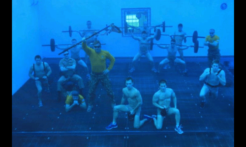 These Navy Divers Just Love to Show Off