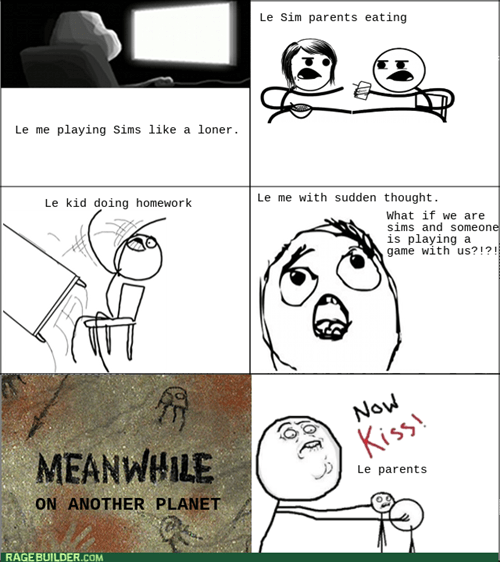 cereal guy,mother of god,the sims 3,The Sims