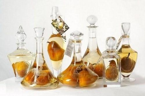 Growing Pears in Liquor Bottles