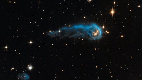 "Hubble Finds a ""Cosmic Caterpillar"""