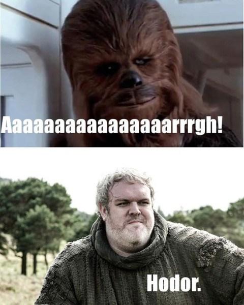 hodor,star wars,Game of Thrones,chewbacca