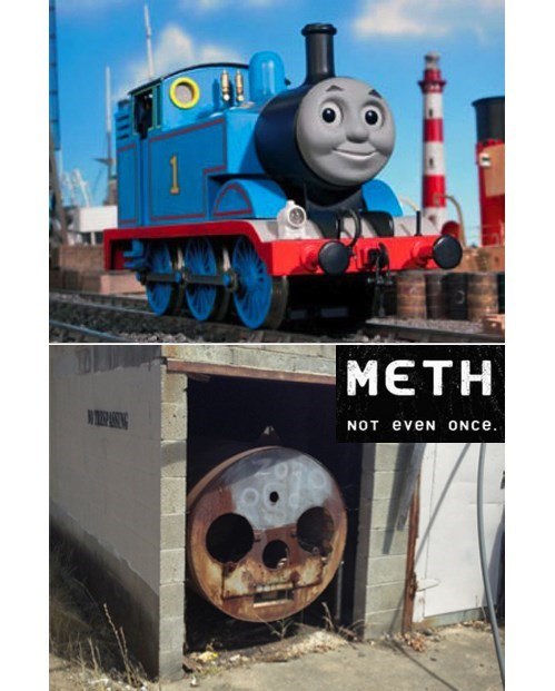 Thomas the Tank Engine Has Had it Rough