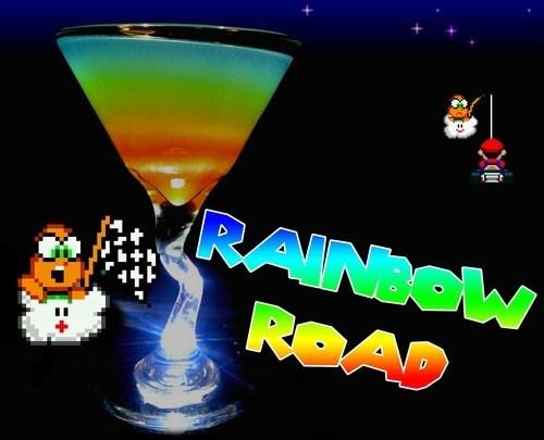 rainbow road,Mario Kart,funny,cocktail