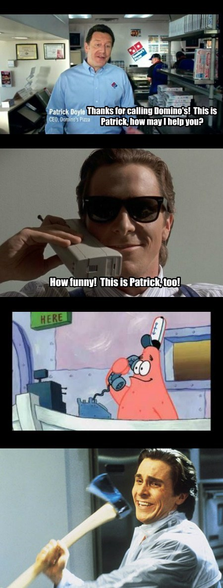 dominos,coincidence,patrick,funny