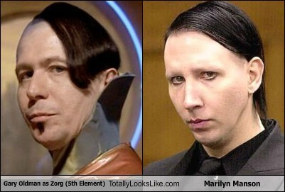Gary Oldman as Zorg (5th Element) Totally Looks Like Marilyn Manson
