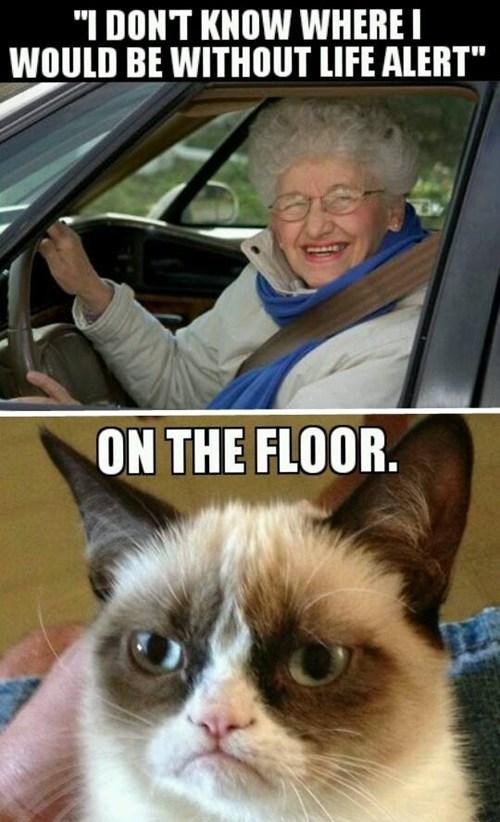 life alert,Grumpy Cat,Memes