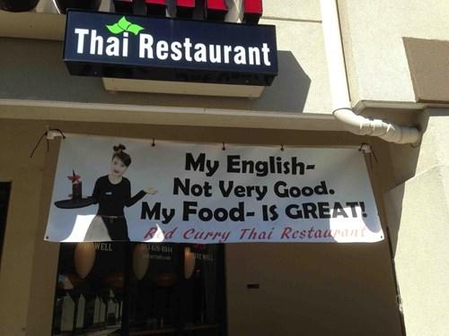 thai restaurant,english,thai food