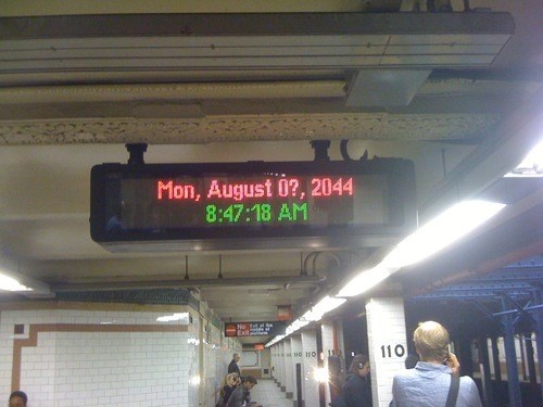 Subway,what year is it,time travel