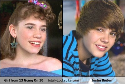 Girl From 13 Going On 30 Totally Looks Like Justin Bieber
