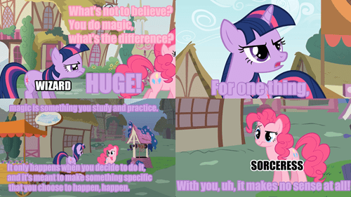 My Little Pony Explains the Difference Between a Wizard and a Sorceress