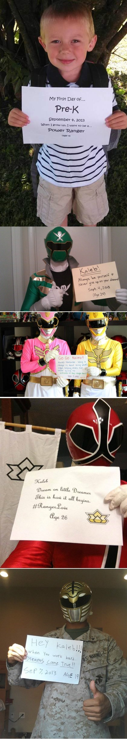 Power Rangers from Around the Internet Stand in Support of This Little Guy's Dream