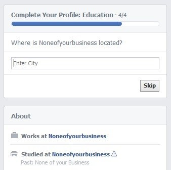 personal information,none of your business,education