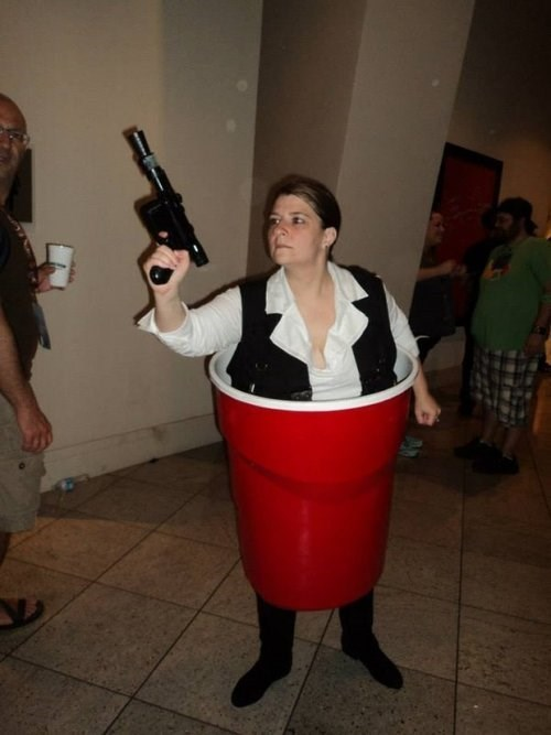 Han Solo Cup Cosplayer