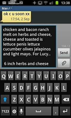 autocorrect,text,sandwiches,funny