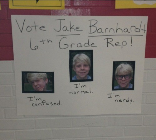 poster,6th grade,class president,funny