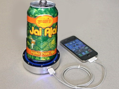 Power Your Phone With a Cold Beer