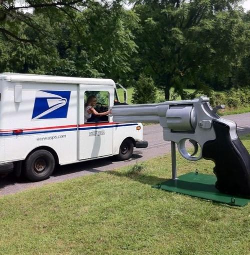 guns,wtf,mailbox,america,funny,americana