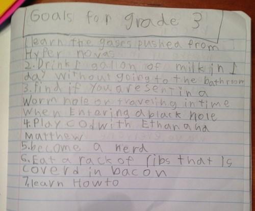 third grade,kids,goals