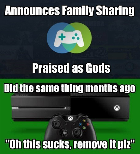 steam,family sharing,xbox one