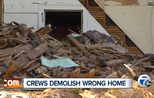 A Man is About to Get His Home Demolished, so He Gives His Neighbor's Address Instead