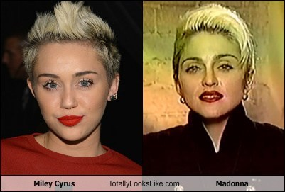 totally looks like,miley cyrus,Madonna,funny