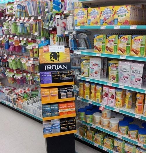 Babies,baby food,store display,funny,condoms