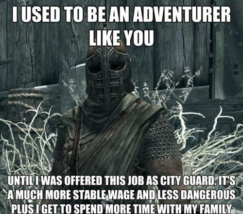 I used to be an adventurer like you,skyim