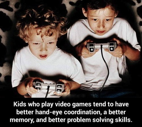 Fact: Video Games Are Helpful to Children