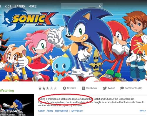 "Sonic X takes place on ""Mobius""???"