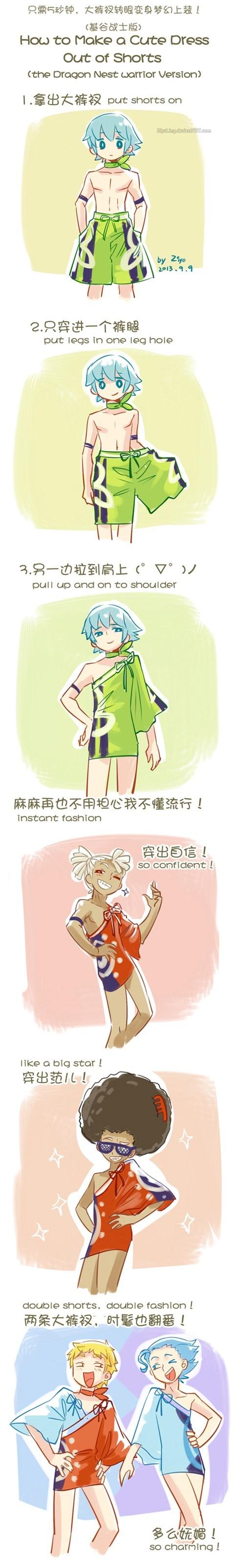 shorts,anime,Life Hack,DIY,dress