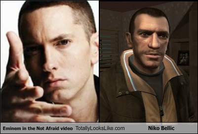 Eminem in the Not Afraid video Totally Looks Like Niko Bellic