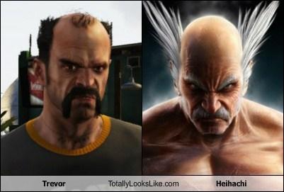heihachi,trevor,GTA V,totally looks like,Tekken,funny