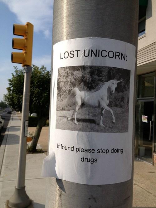 drugs,unicorns,lost unicorn