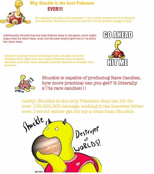 Pokémon,don't mess with shuckle,Shuckle