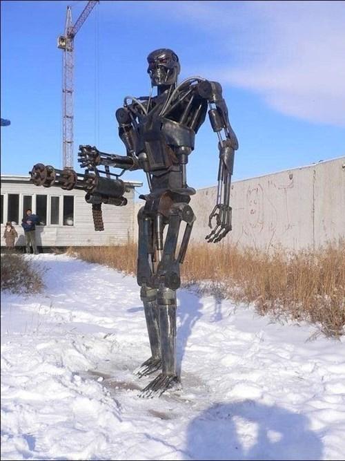 terminator,statue,t100