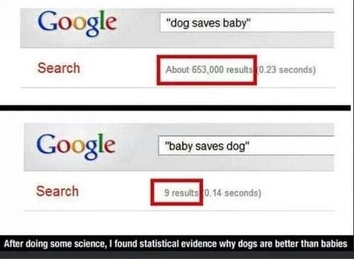 Babies,dogs,google