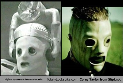 Original Cybermen from Doctor Who Totally Looks Like Corey Taylor from Slipknot