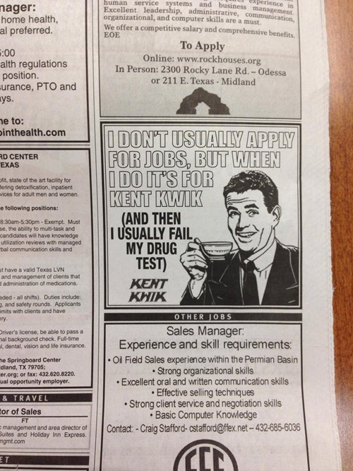 bros,now hiring,classified ads,newspapers,drug tests