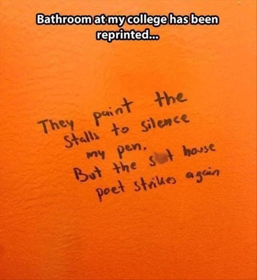 bathroom,funny,college,poetry