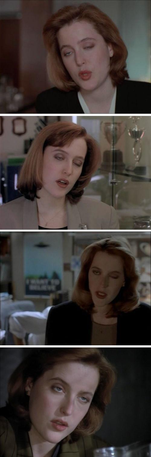 Unflattering Screen Caps of Scully's Condescending Eye-Roll