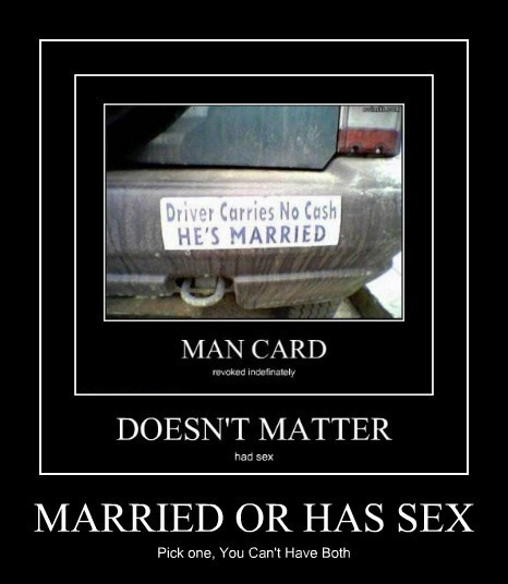MARRIED OR HAS SEX