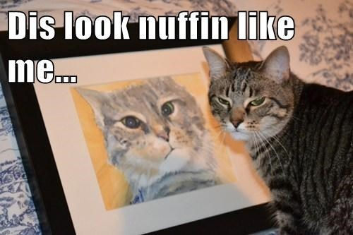 portrat,cat,Doppelgänger,painting