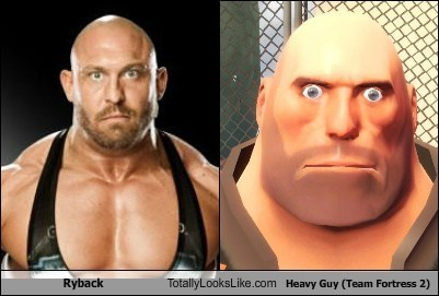 heavy,ryback,Team Fortress 2,totally looks like,funny