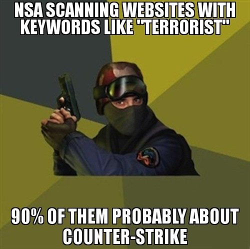 The NSA Will Think Gamers Cause Violence