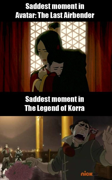 Korra's Clearly an Emotionally Mature Show