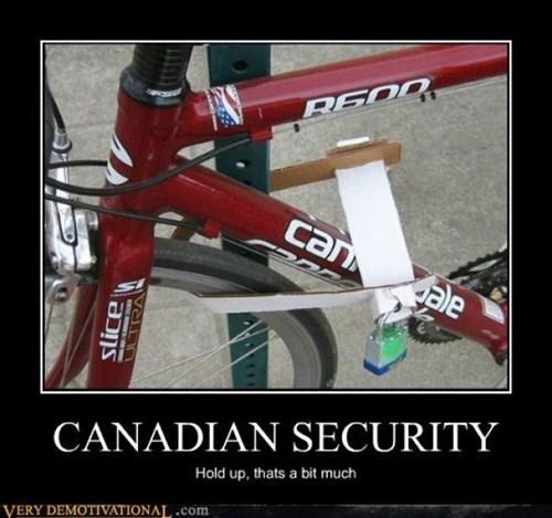 Canada,security,polite,bike lock,funny