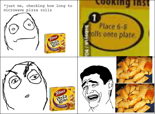 screw that,pizza rolls,serving size