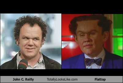 john c reilly,dick tracy,flattop,totally looks like,funny