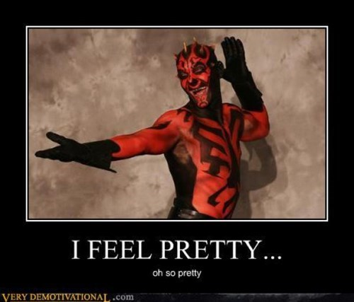 darth maul,star wars,funny,pretty